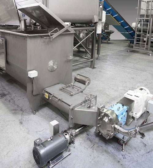Auger feed hopper with compression section