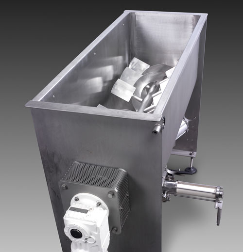paddle mixer feed food processing system