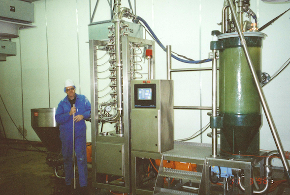 Bob Smith in factory with early RotaTherm