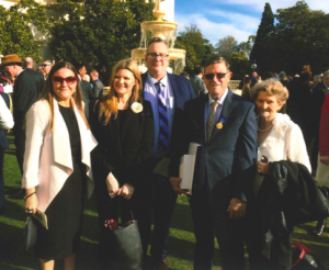 Bob and family in grounds of Government House